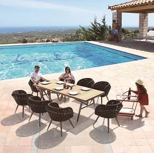 Outdoor Furniture Sets - Outdoor  Dining Sets - Verona Dining Set for 8