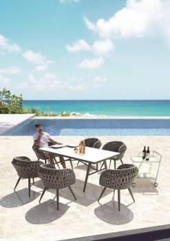 Outdoor Furniture Sets - Outdoor  Dining Sets - Verona Dining Set for 6