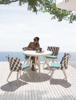 Outdoor  Dining Sets - Outdoor Dining Sets For 4 - Verona Dining Set for 4 with Armless Chairs
