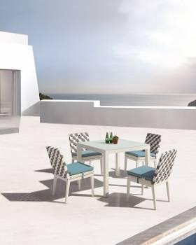 Outdoor Furniture Sets - Outdoor  Dining Sets - Florence Dining Set for 4