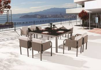 Outdoor Furniture Sets - Outdoor  Dining Sets - Barite Dining Set for 8
