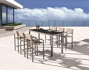 Outdoor Furniture Sets - Outdoor Bar Sets - Barite Bar Set for 6