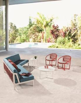 Outdoor Furniture Sets - Outdoor Sofa & Seating Sets - Hyacinth V Shaped Sectional Sofa with 2 Chairs