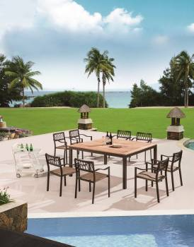 Outdoor Furniture Sets - Outdoor  Dining Sets - Hyacinth Square Dining Set for 8