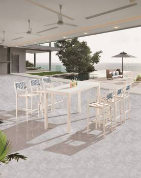 Outdoor Furniture Sets - Outdoor Bar Sets - Hyacinth Bar Set for 6