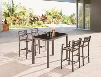Outdoor Furniture Sets - Outdoor Bar Sets - Hyacinth Bar Set for 4