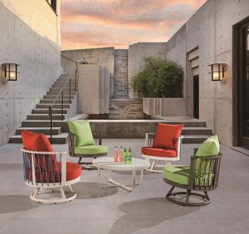 Outdoor Furniture Sets - Outdoor Sofa & Seating Sets - Hyacinth Seating Set for 4