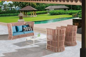Outdoor Sofa & Seating Sets - Outdoor Seating Sets For 5 - Apricot Tall Sofa Set