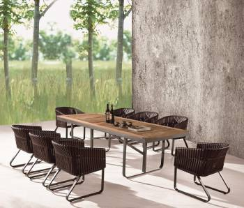 Outdoor Furniture Sets - Outdoor  Dining Sets - Apricot Dining Set for 8
