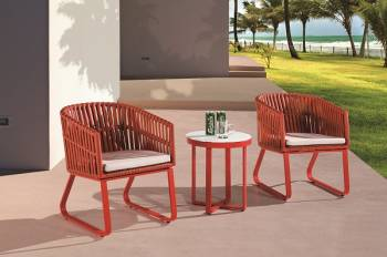 Outdoor Furniture Sets - Outdoor Sofa & Seating Sets - Apricot Seating Set for 2 with Sidestraps