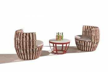 Shop By Category - Outdoor Seating Sets - Apricot Round Seating Set for 2