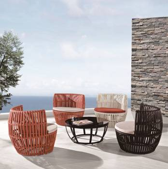 Outdoor Furniture Sets - Outdoor Sofa & Seating Sets - Apricot Round Seating Set for 4