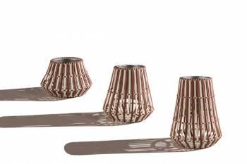 Accessories - Woven Planters - Apricot Flower Vase
