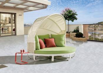Outdoor Furniture Sets - Outdoor Daybeds - Polo Daybed with Canopy
