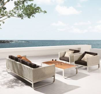 Outdoor Sofa & Seating Sets - Outdoor Seating Sets For 5 - Polo Sofa Set