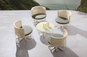 Shop By Collection - Polo Collection - Polo Round Seating Set for 4 with Round Coffee Table