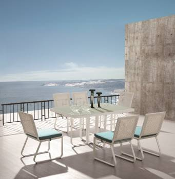 Outdoor  Dining Sets - Outdoor Dining Sets For 6 - Polo Dining Set for 6 without Arms