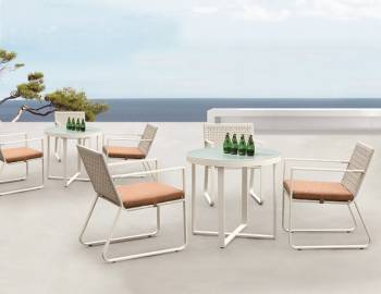 Outdoor  Dining Sets - Outdoor Dining Sets For 4 - Polo Dining Set for 3 with 3 chairs and Round table