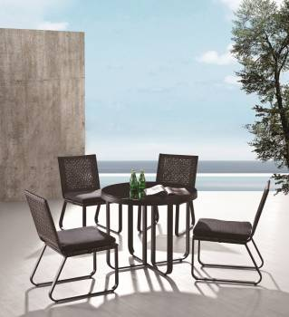 Outdoor  Dining Sets - Outdoor Dining Sets For 4 - Polo Dining Set for 4 without Arms
