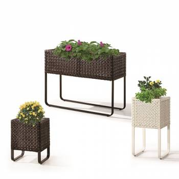 Accessories - Woven Planters - Polo Tall Square Flower Vase