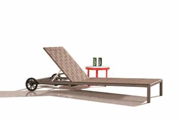 Outdoor Furniture Sets - Outdoor Chaise Lounges - Asthina Chaise Lounge with wheels