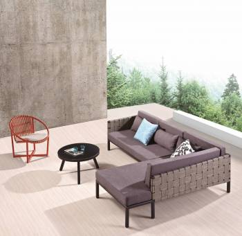 Outdoor Furniture Sets - Outdoor Sofa & Seating Sets - Asthina 2 Seater Sofa with Chaise Lounger Set