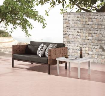 Outdoor Furniture Sets - Outdoor Sofa & Seating Sets - Asthina 2 Seater Sofa with Side Table