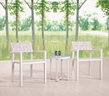 Individual Pieces - Dining Chairs - Asthina Seating for 2 with Side Table