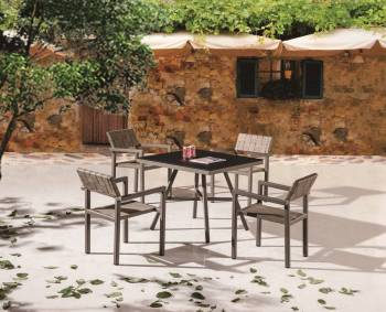 Outdoor Furniture Sets - Outdoor  Dining Sets - Asthina Dining Set For 4 with Arms