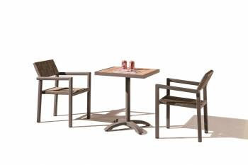 Outdoor Furniture Sets - Outdoor  Dining Sets - Asthina Dining Set for 2 with Arms