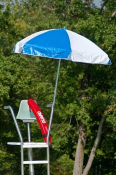 Accessories - Patio Umbrellas - Babmar - Lifeguard 6.5' Steel Umbrella