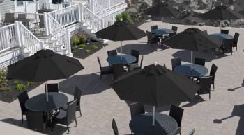 Babmar - Monterey Fiberglass Pulley-Lift Umbrella - Image 5