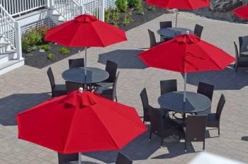 Monterey Fiberglass Pulley-Lift Umbrella