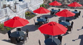 Accessories - Patio Umbrellas  - Babmar - Monterey Fiberglass Pulley-Lift Umbrella