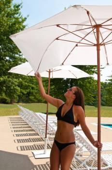 Babmar - Catalina Fiberglass Octogan Patio Umbrella - Image 3