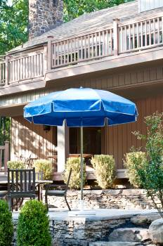 Accessories - Patio Umbrellas - Babmar - Laurel Steel Octogan Patio Umbrella