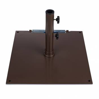 "Babmar - 16"" Square Steel Plated Umbrella Base - Image 3"