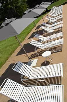 Greenwich Aluminum Pulley-Lift Umbrella