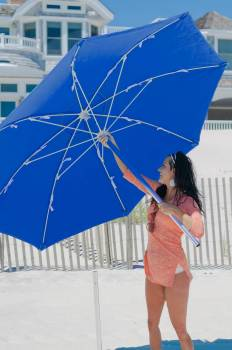 Accessories - Patio Umbrellas  - Babmar - Avalon Fiberglass Beach Umbrella