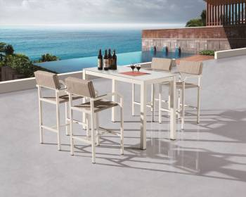 Outdoor Bar Sets - Outdoor Bar Sets For 4 - Barite Bar Set for 4