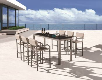 Outdoor Bar Sets - Outdoor Bar Sets For 6 - Barite Bar Set for 6