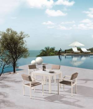 Outdoor Furniture Sets - Outdoor  Dining Sets - Barite Dining Set for 4 with Arms