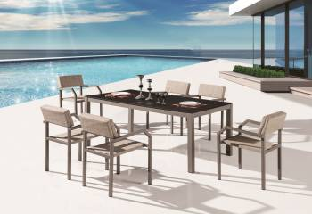 Outdoor Furniture Sets - Outdoor  Dining Sets - Barite Dining Set for 6