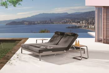 Outdoor Furniture Sets - Outdoor Chaise Lounges - Barite Outdoor Double Chaise Lounge