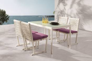 Outdoor Furniture Sets - Outdoor  Dining Sets - Cali Dining Set For 4