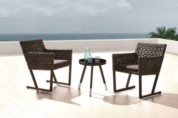 Outdoor  Dining Sets - Outdoor Dining Sets For 2 - Cali Seating Set for 2 with side table