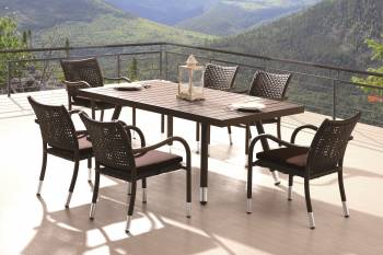 Outdoor Furniture Sets - Outdoor  Dining Sets - Fatsia Dining Set For 6
