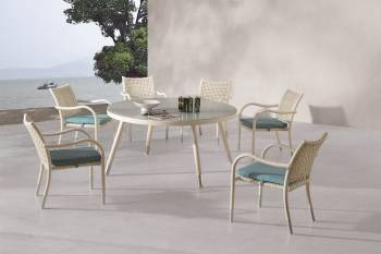 Outdoor Furniture Sets - Outdoor  Dining Sets - Fatsia Dining Set For 6 with Round Table