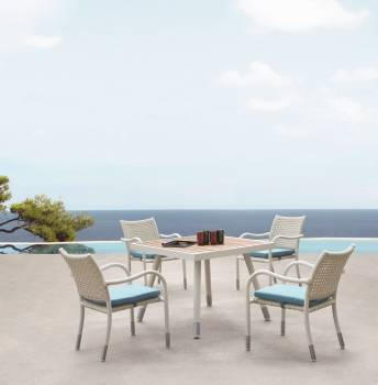 Outdoor Furniture Sets - Outdoor  Dining Sets - Fatsia Dining Set For 4 with Arms