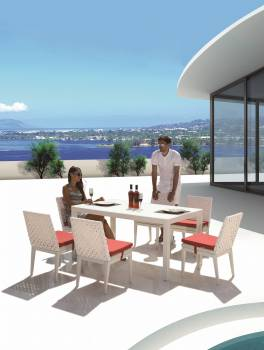 Outdoor Furniture Sets - Outdoor  Dining Sets - Florence Dining Set for 6 with Armless Chairs